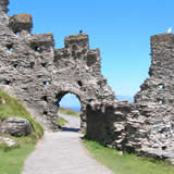 Tintagel - the legendary castle of St Arthur - on the north coast of Cornwall