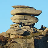 The Cheesewring on Bodmin Moor near the village of Minions