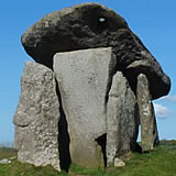 Trethevy Quoit near Darite on Bodmin Moor