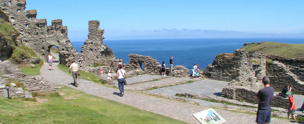 Tintagel - the legendary castle of King Arthur is within easy reach of Launceston