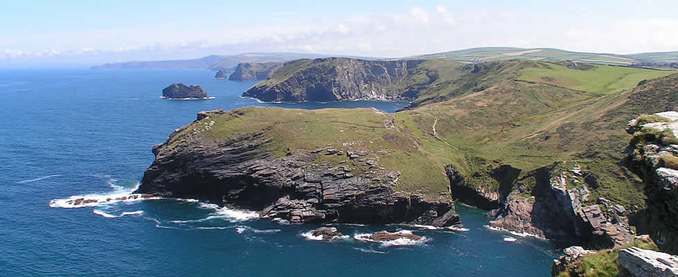 The south west coastal path meanders for miles along the north Cornwall coast