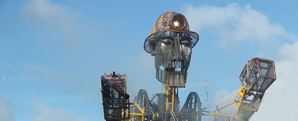 The magnificent Man Engine touring Cornwall in August 2016 to celebrate Cornish Mining Heritage